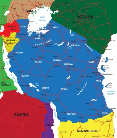 burundi: Tanzania map