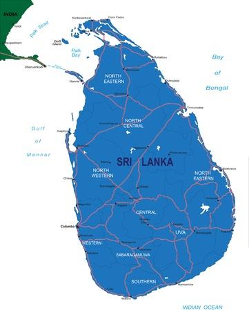 Sri Lanka map Illustration