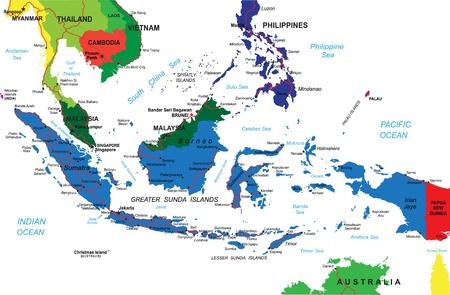 chi: Indonesia mapa Vectores