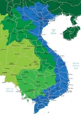 Vietnam map Illustration