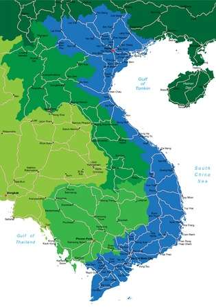 asia business: Vietnam map Illustration
