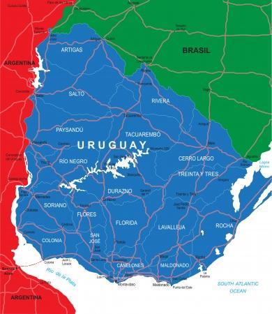 Uruguay map Stock Vector - 16101994