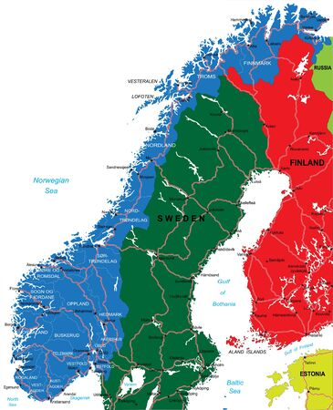 baltic: Norway map Illustration
