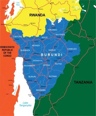 kigali: Burundi map