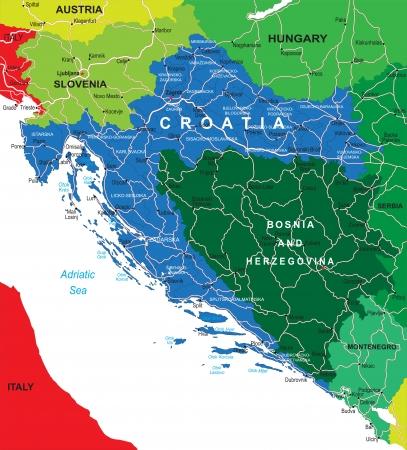 herzegovina: Croatia map