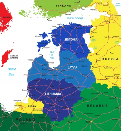 baltic: Baltic states map