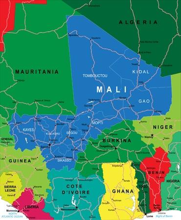 mali: Mali map