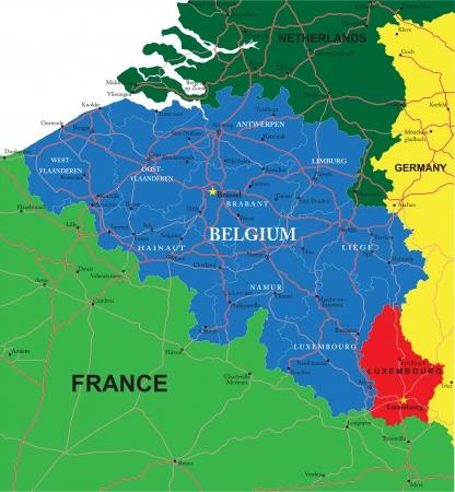 Belgium map Ilustração