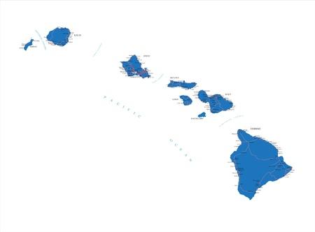 hawaii islands: Hawaii map
