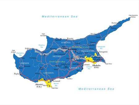 cyprus: Cyprus map