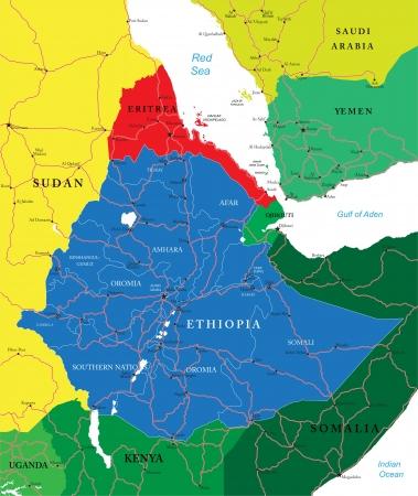 ethiopia: Ethiopia map