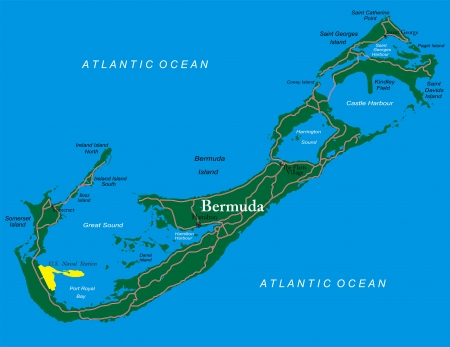 Bermuda map Illustration