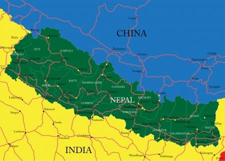 kathmandu: Nepal map
