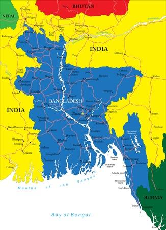 ganges: Bangladesh map
