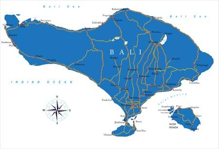 sumatra: Bali map