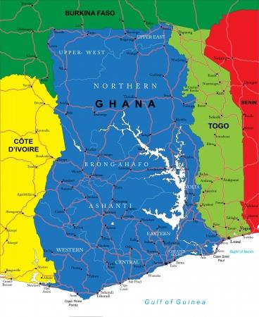 ghana: Ghana carte