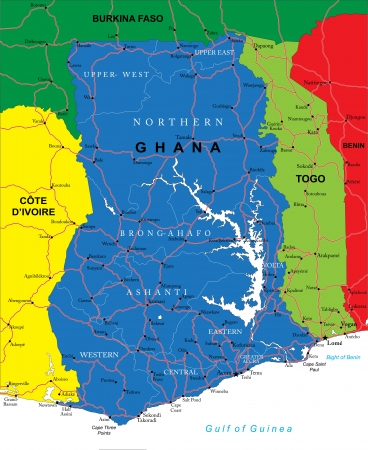 ghana: Ghana map