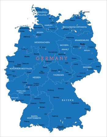 carte allemagne: Carte de l'Allemagne