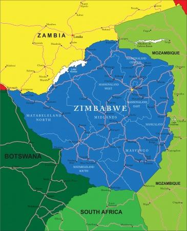 simbabwe: Simbabwe Karte