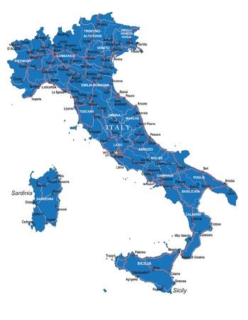 Italy map Stock Vector - 20479698
