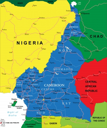 cameroon: Camerun Mappa