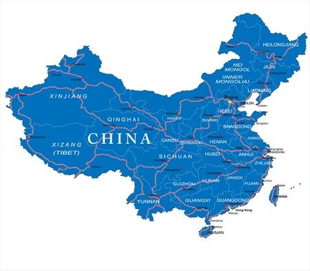 the republic of china: China map