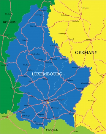 Carte Luxembourg Illustration