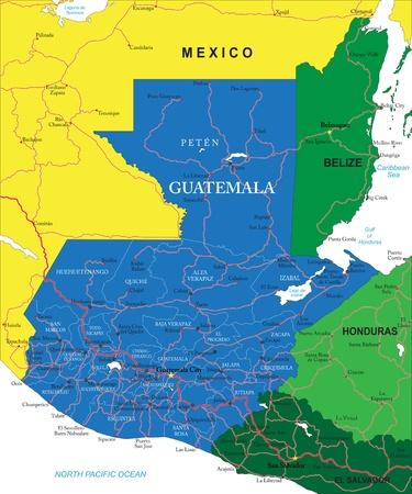 mapa de el salvador: Mapa de Guatemala Vectores
