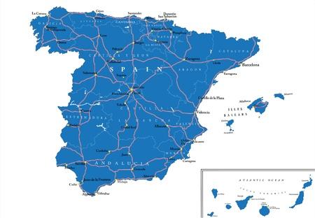 spain map: Spain map