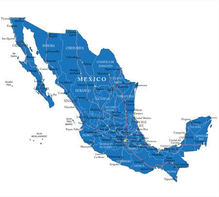 mexico beach: Mexico map