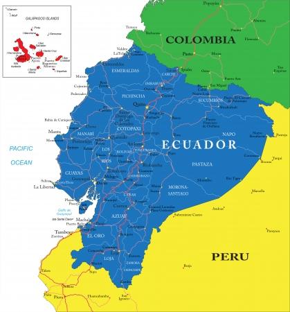 ecuador: Ecuador kaart