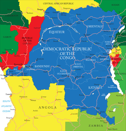 republic of the congo: Democratic Republic of Congo map