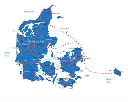 danish: Denmark map