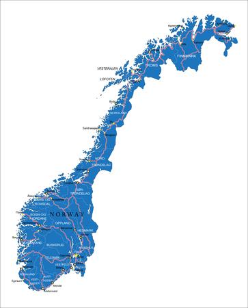 Carte de la Norvège