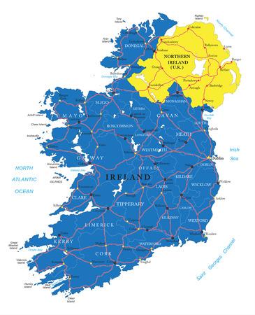 Ierland kaart Stock Illustratie