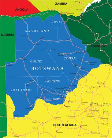 Botswana map Illustration