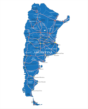 map of argentina: Political map of Argntina