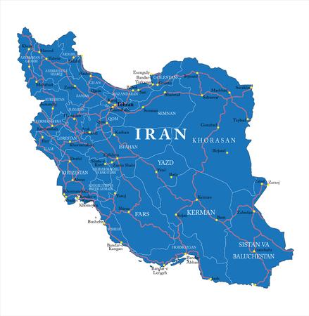 Iran political map Vector