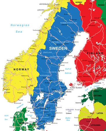 map of sweden: Sweden map