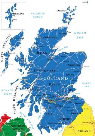 Scotland map Illustration