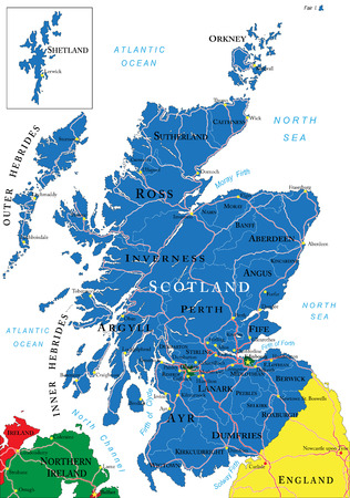 Scotland map Vettoriali