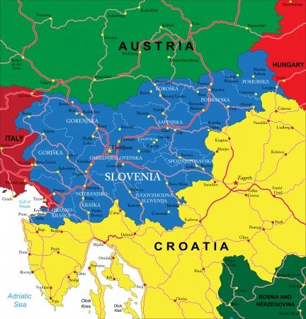 slovenia: Slovenia map