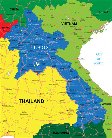 Indochina Physical Map Royalty Free Cliparts Vectors And Stock