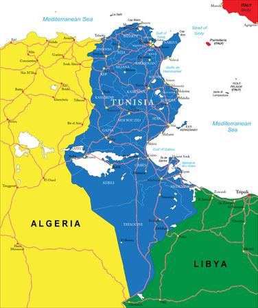 Tunesien-Karte