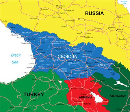 georgia: Georgia map