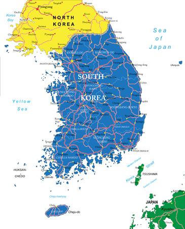 south korea: South Korea map
