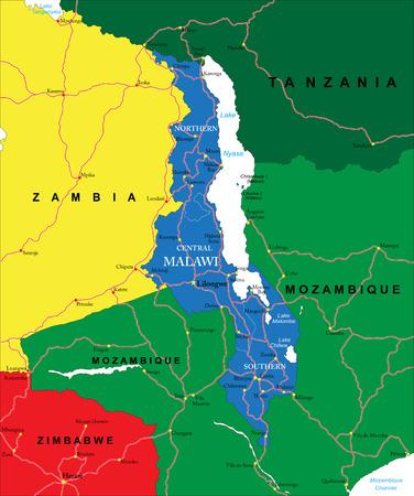 tanganyika: Malawi map Illustration