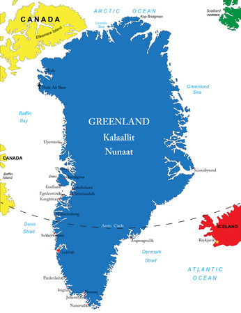 atlantic city: Greenland map