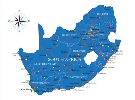 mapa de africa: Mapa de Sudáfrica