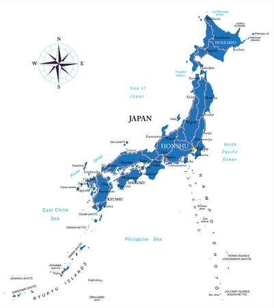 kobe: Japan map